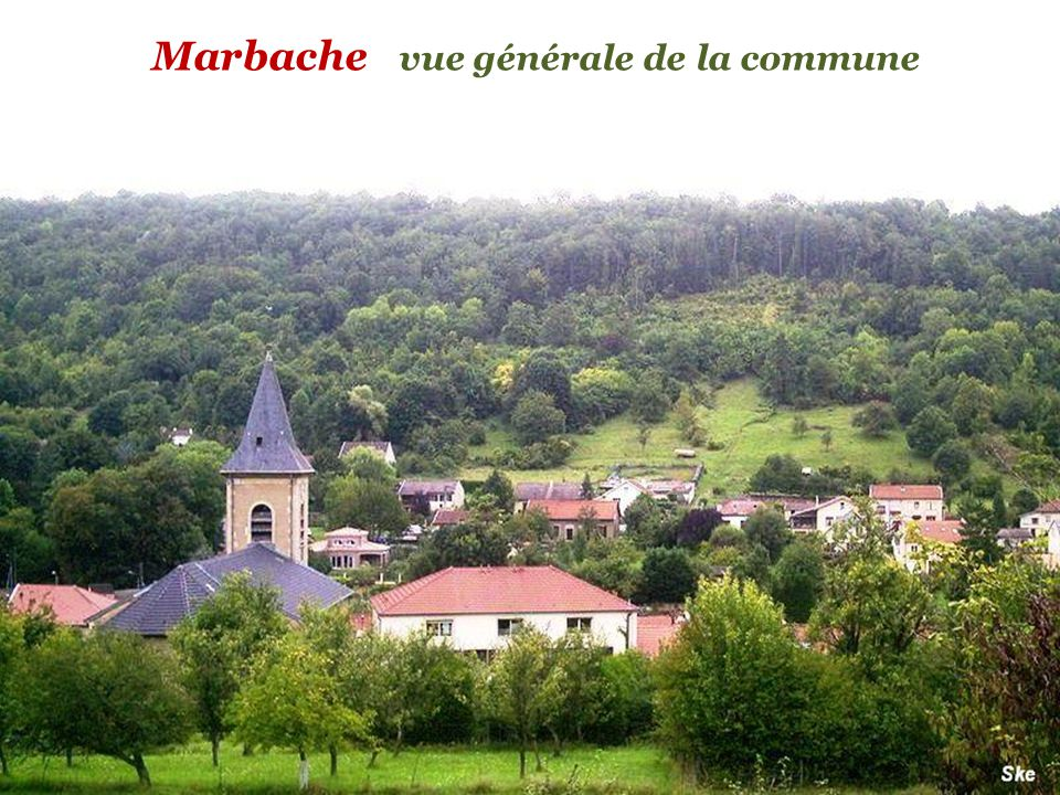 Marbache vue générale de la commune