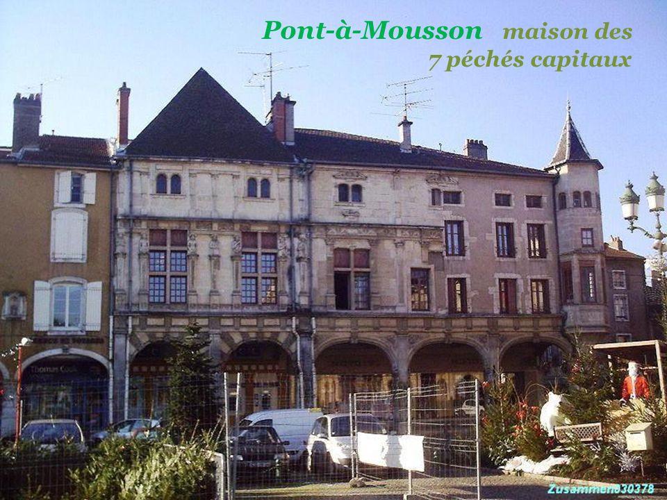 Pont-à-Mousson maison des . 7 péchés capitaux