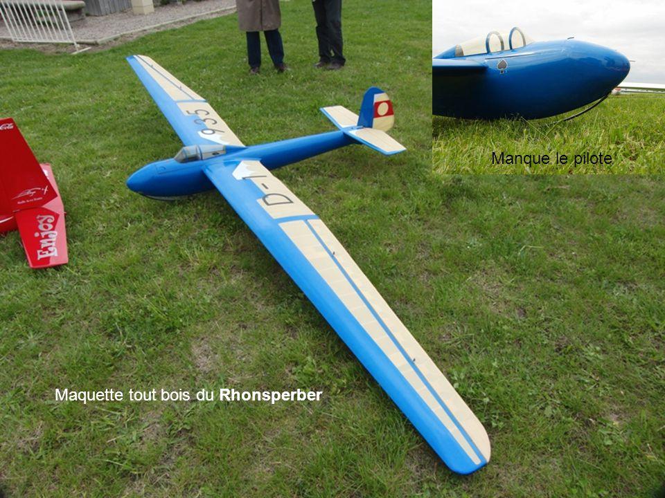 Manque le pilote Maquette tout bois du Rhonsperber