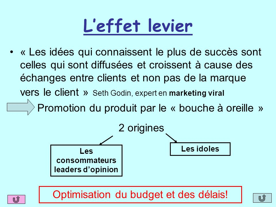 Les consommateurs leaders d'opinion