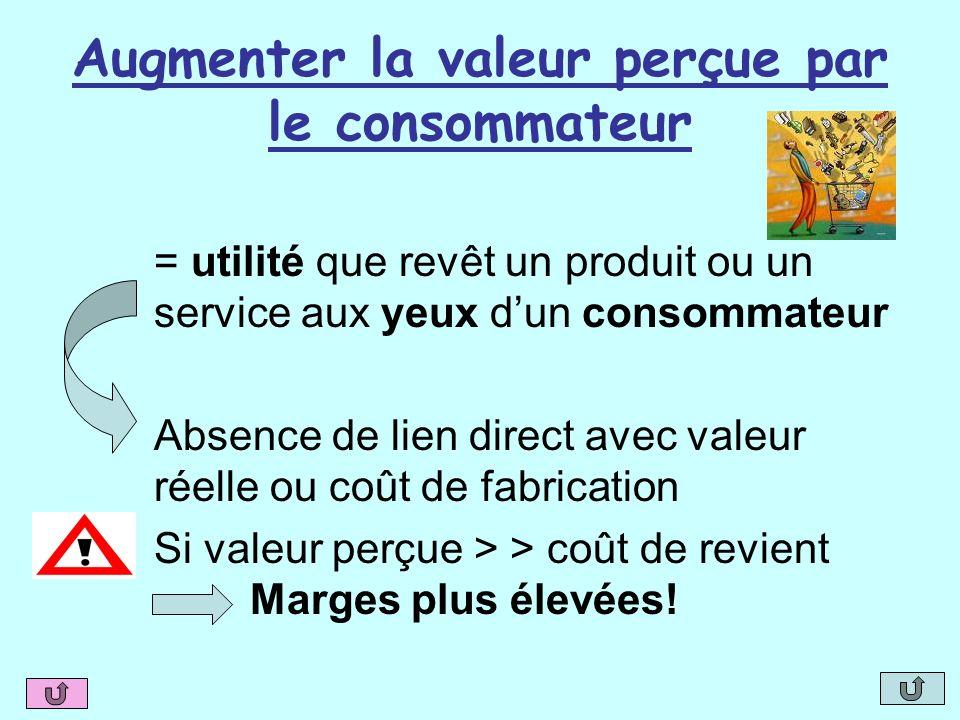 Augmenter la valeur perçue par le consommateur