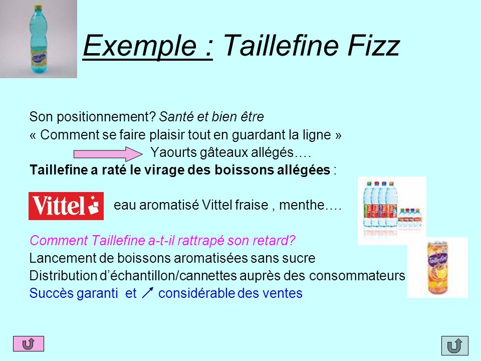 Exemple : Taillefine Fizz