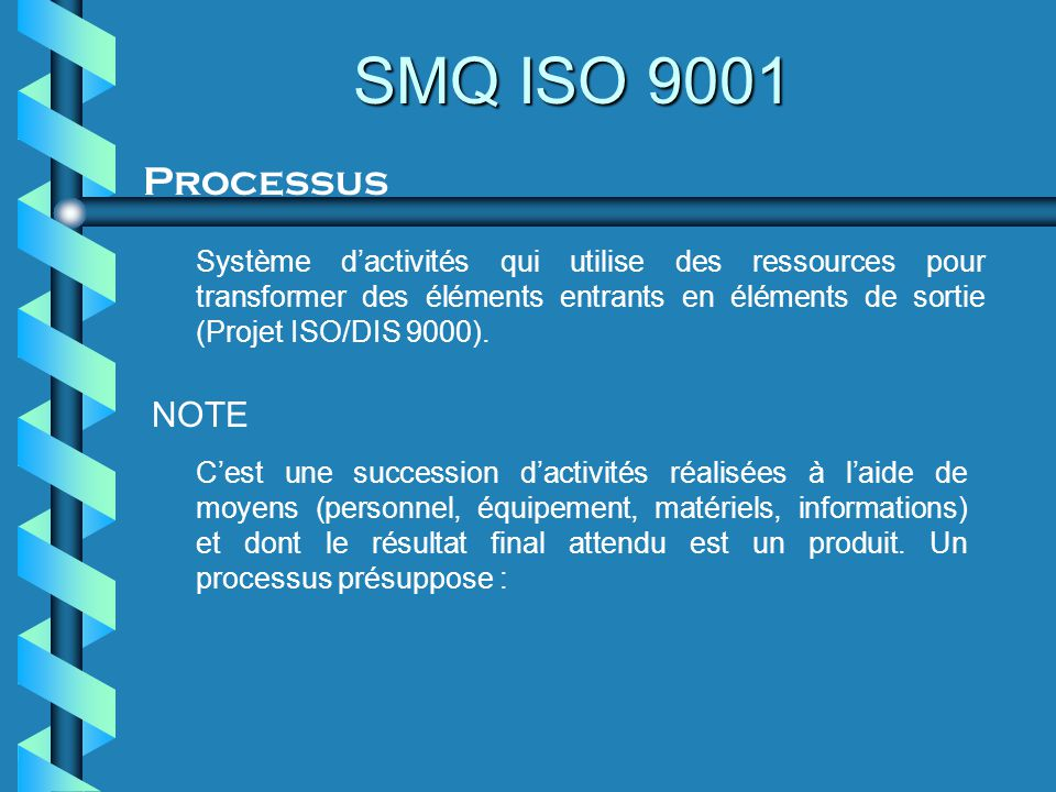 SMQ ISO 9001 Processus.