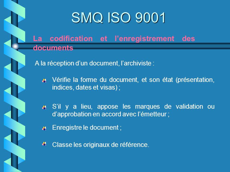 SMQ ISO 9001 La codification et l'enregistrement des documents