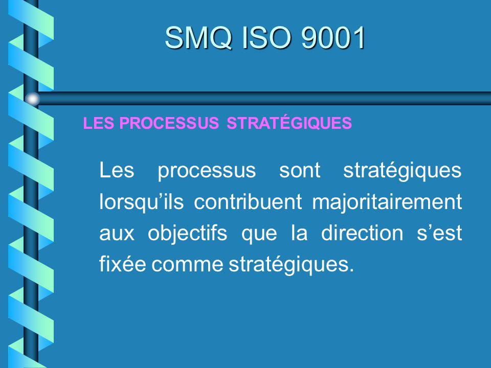 SMQ ISO 9001 LES PROCESSUS STRATÉGIQUES.