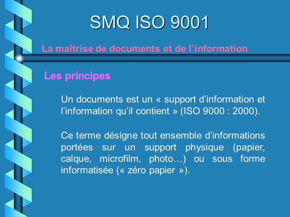 SMQ ISO 9001 La maîtrise de documents et de l'information. Les principes.