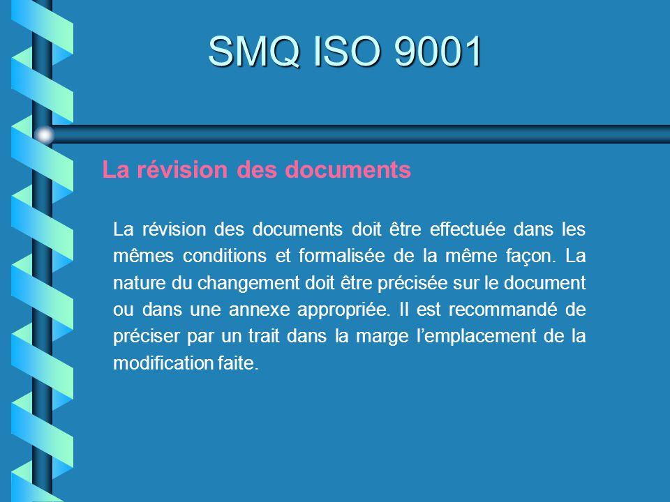 SMQ ISO 9001 La révision des documents