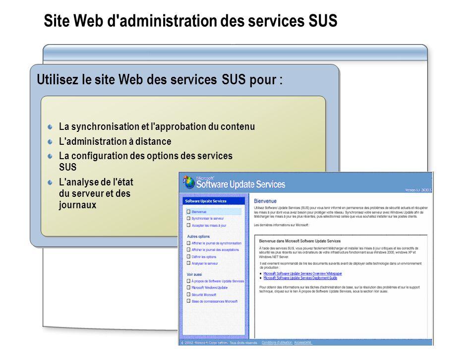Site Web d administration des services SUS