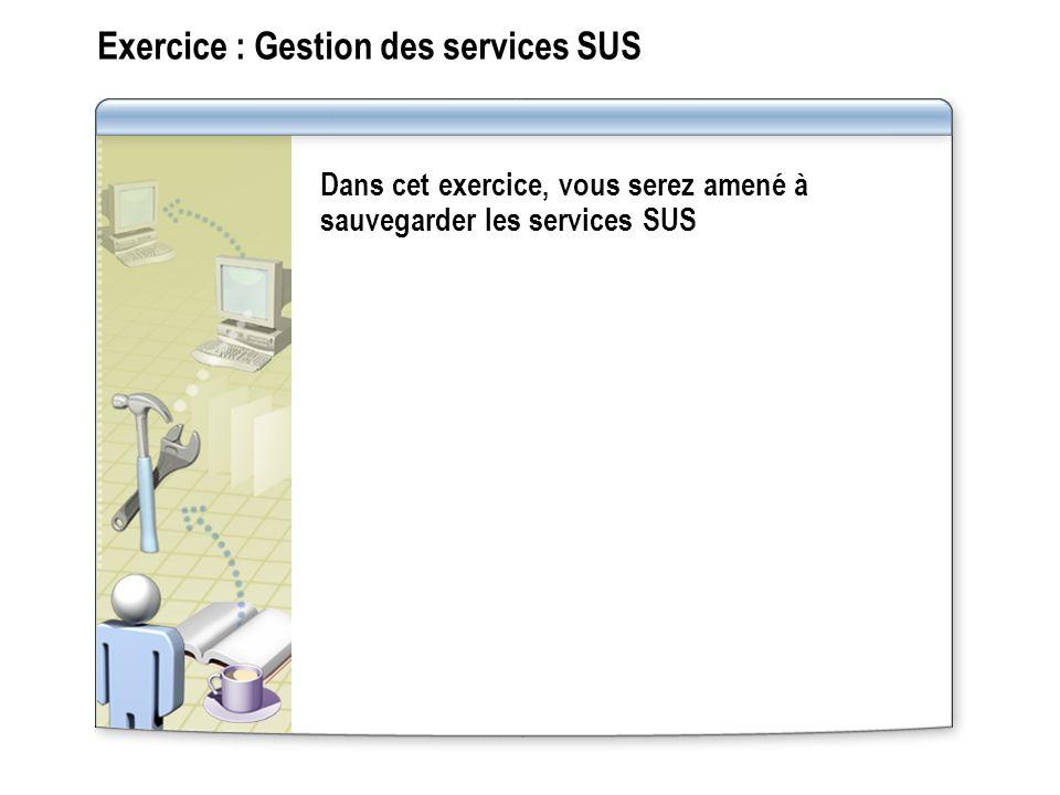 Exercice : Gestion des services SUS
