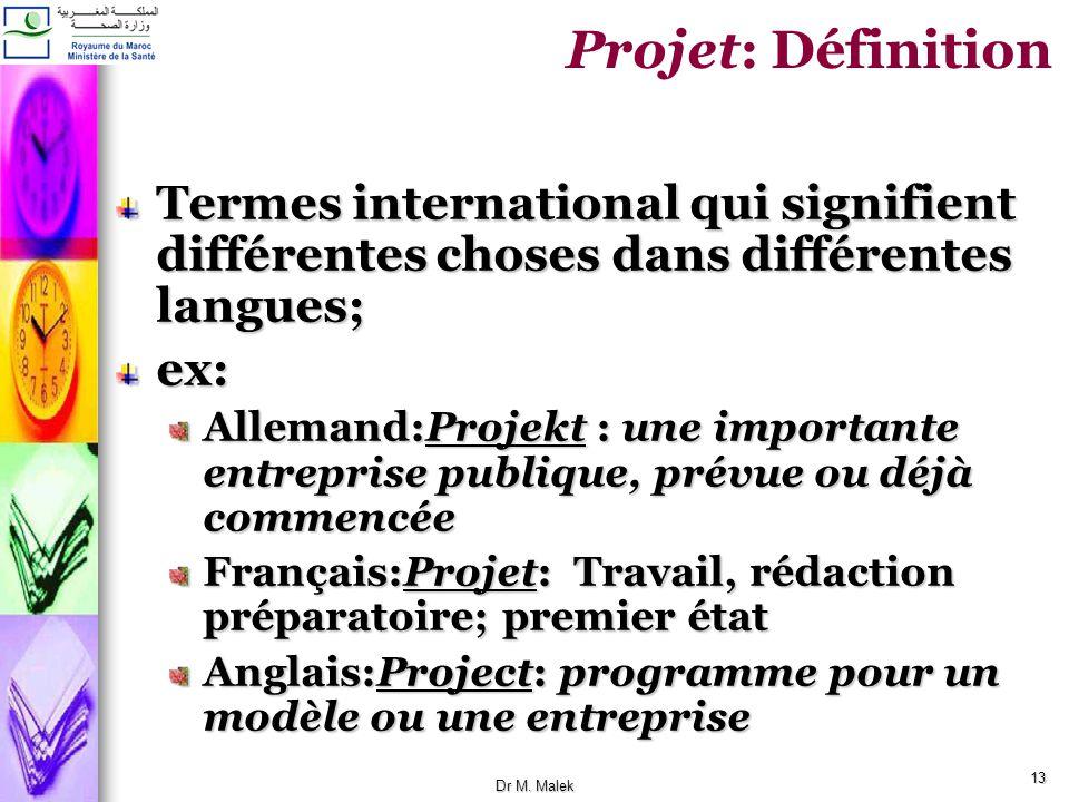 Projet: Définition Termes international qui signifient différentes choses dans différentes langues;