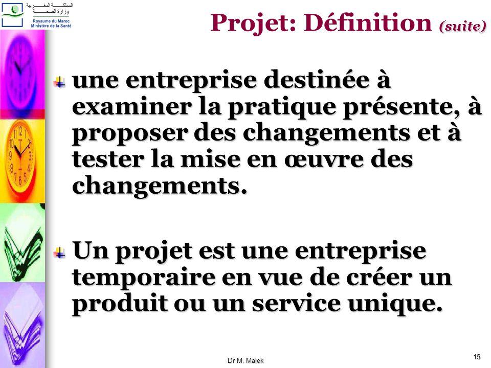 Projet: Définition (suite)