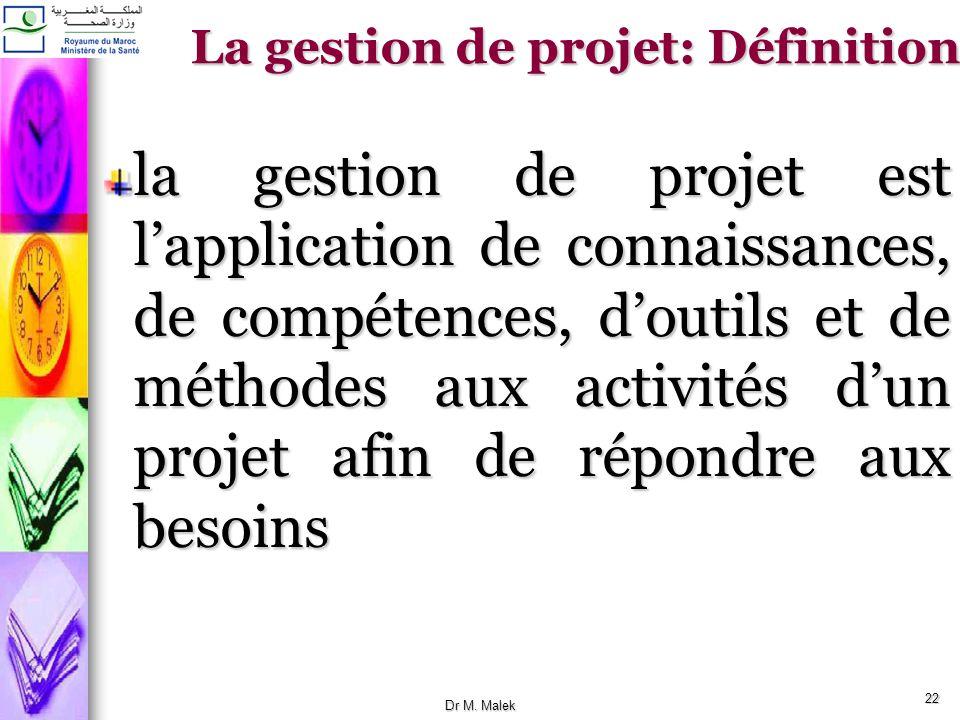 La gestion de projet: Définition