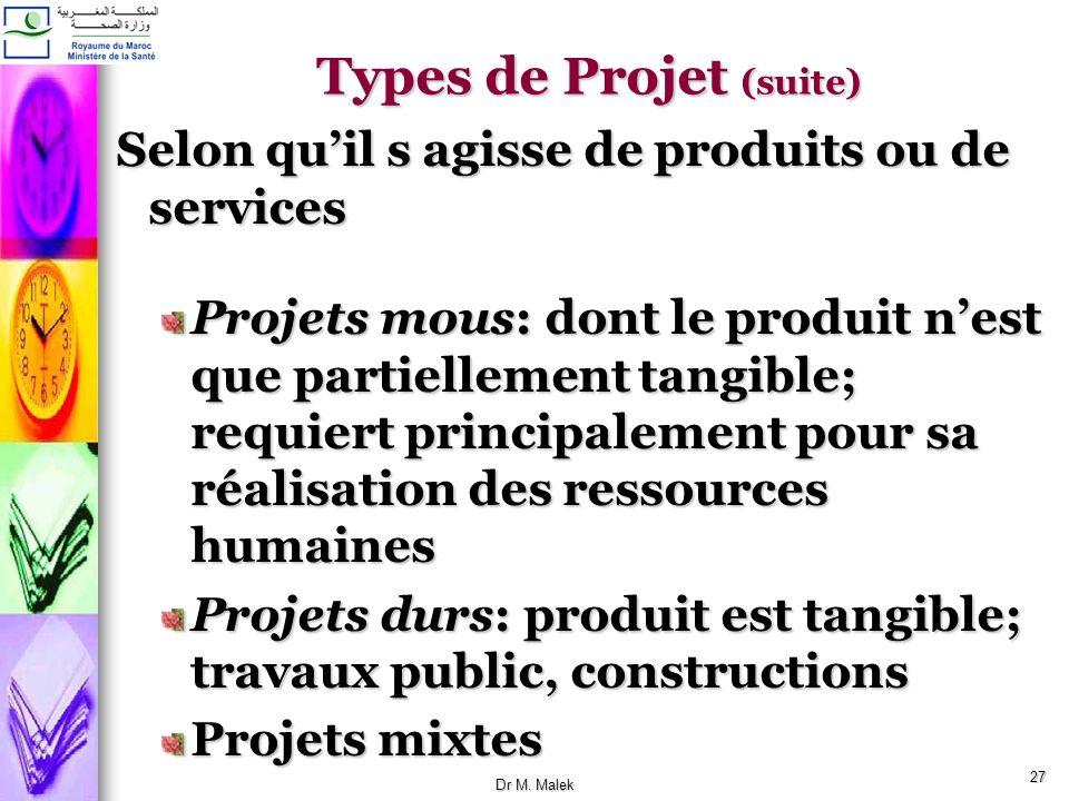 Types de Projet (suite)