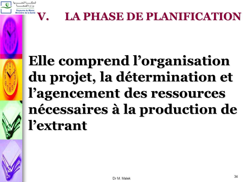 LA PHASE DE PLANIFICATION
