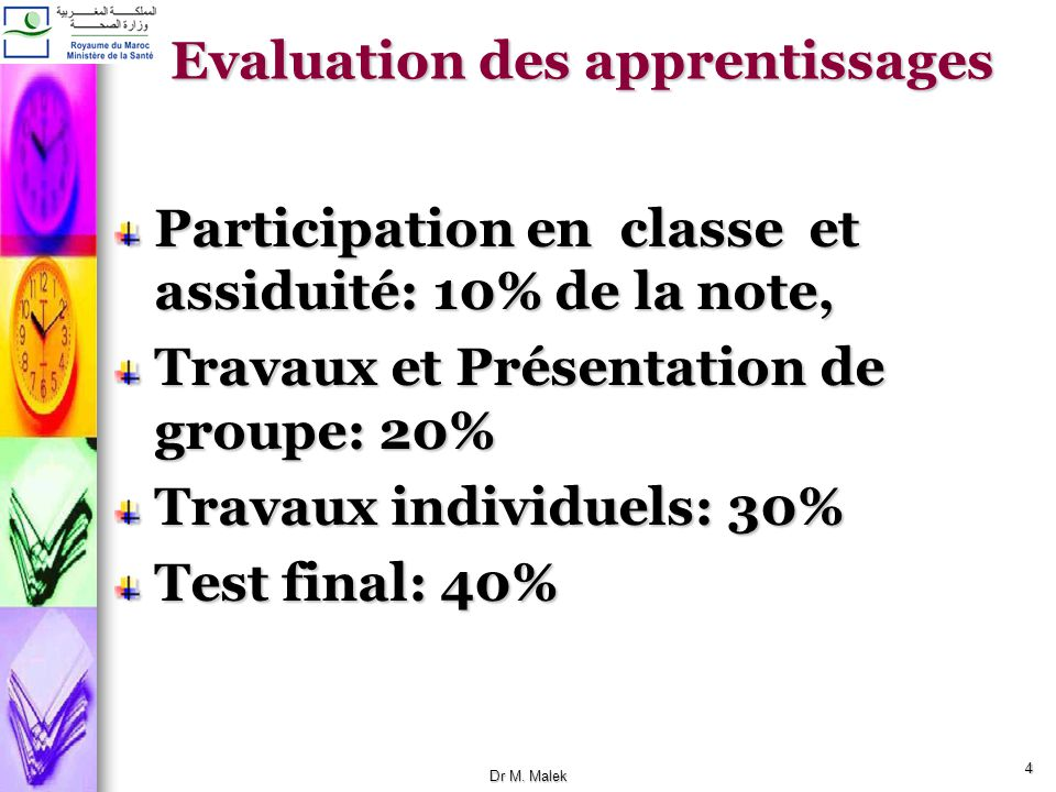 Evaluation des apprentissages