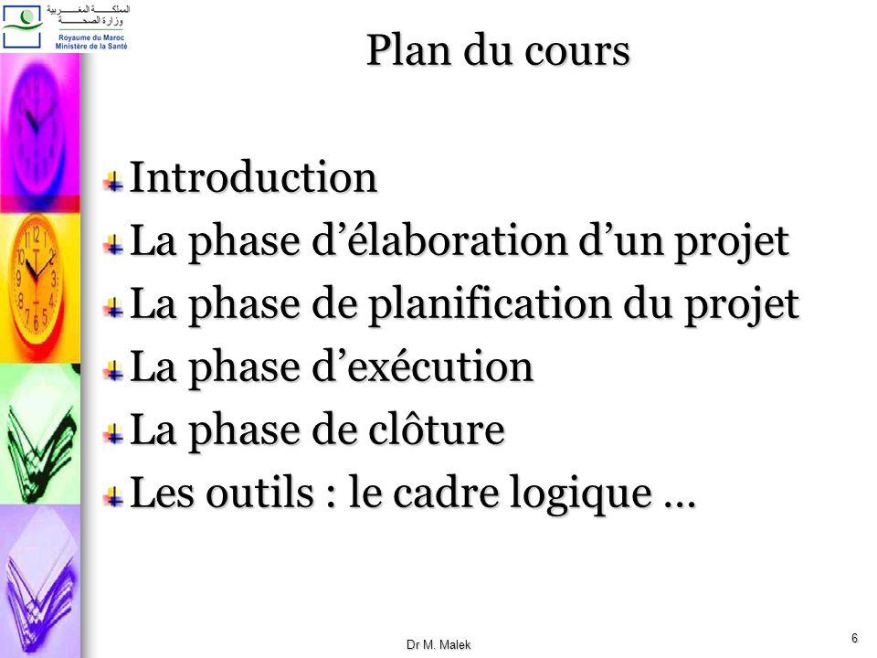 La phase d'élaboration d'un projet La phase de planification du projet