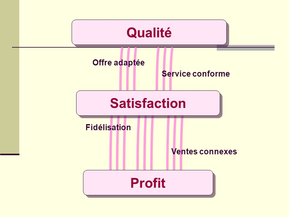 Qualité Satisfaction Profit