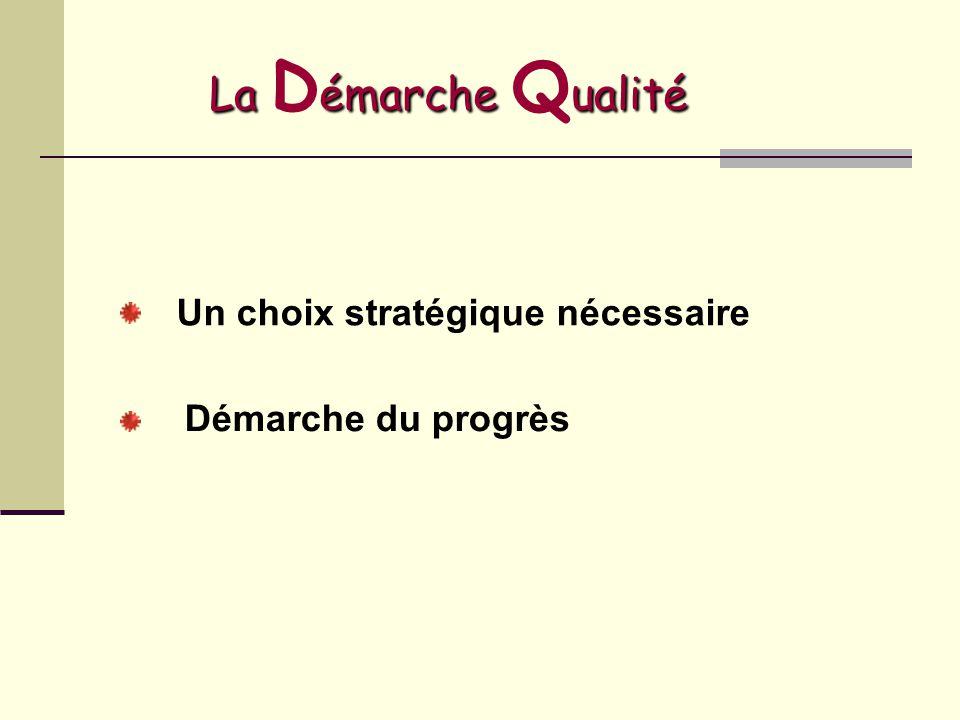 La Démarche Qualité Un choix stratégique nécessaire
