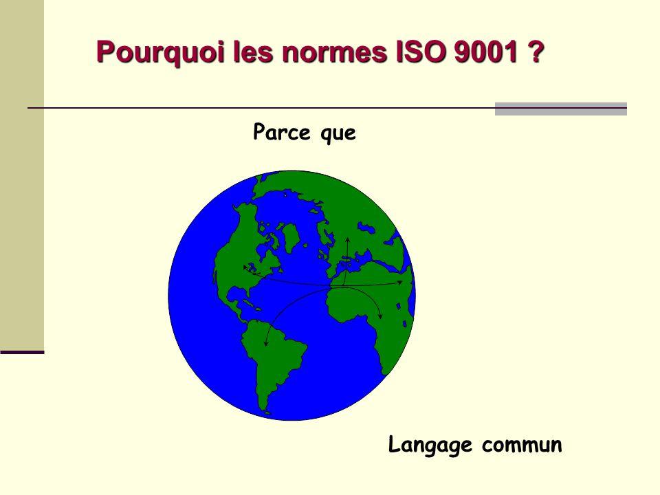 Pourquoi les normes ISO 9001