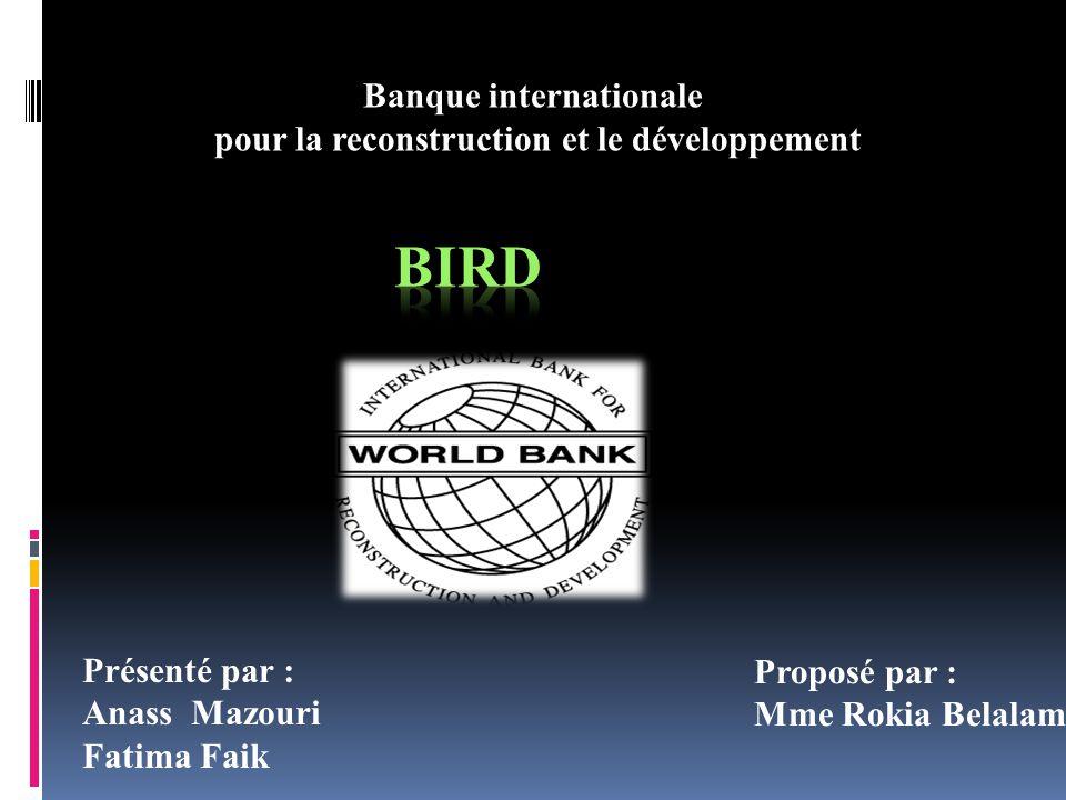 Banque internationale pour la reconstruction et le développement