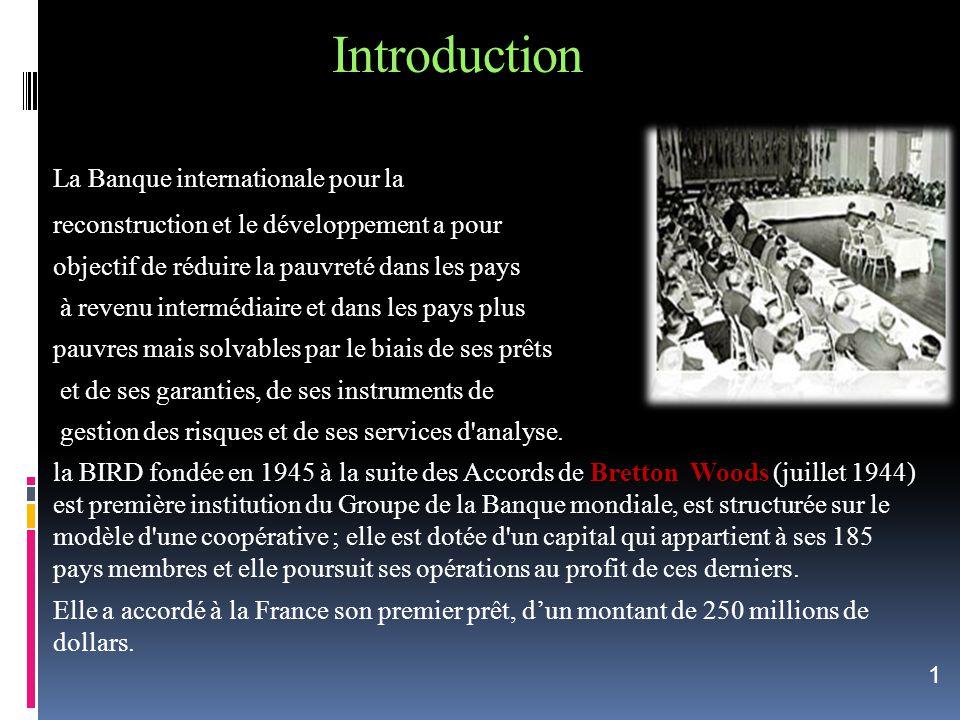Introduction La Banque internationale pour la