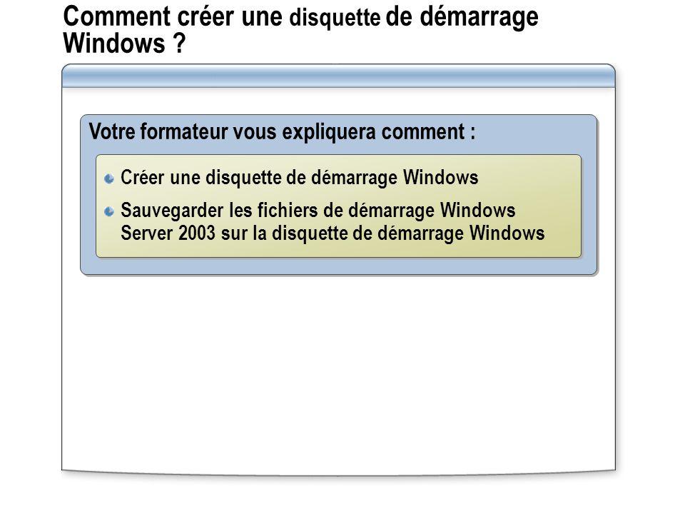 Comment créer une disquette de démarrage Windows