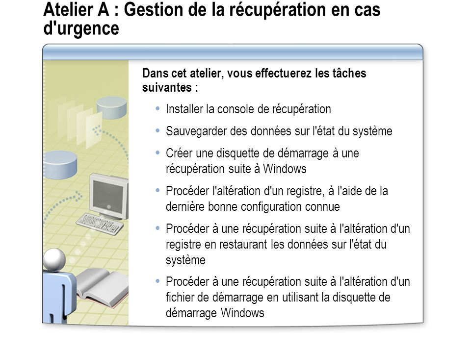 Module 7 gestion de la r cup ration en cas d 39 urgence - Telecharger console de recuperation windows 7 ...
