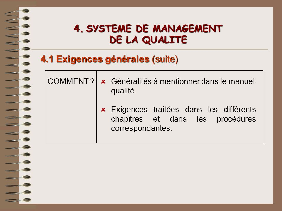 4. SYSTEME DE MANAGEMENT DE LA QUALITE