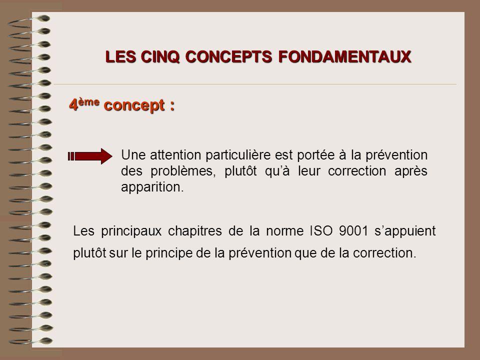 LES CINQ CONCEPTS FONDAMENTAUX
