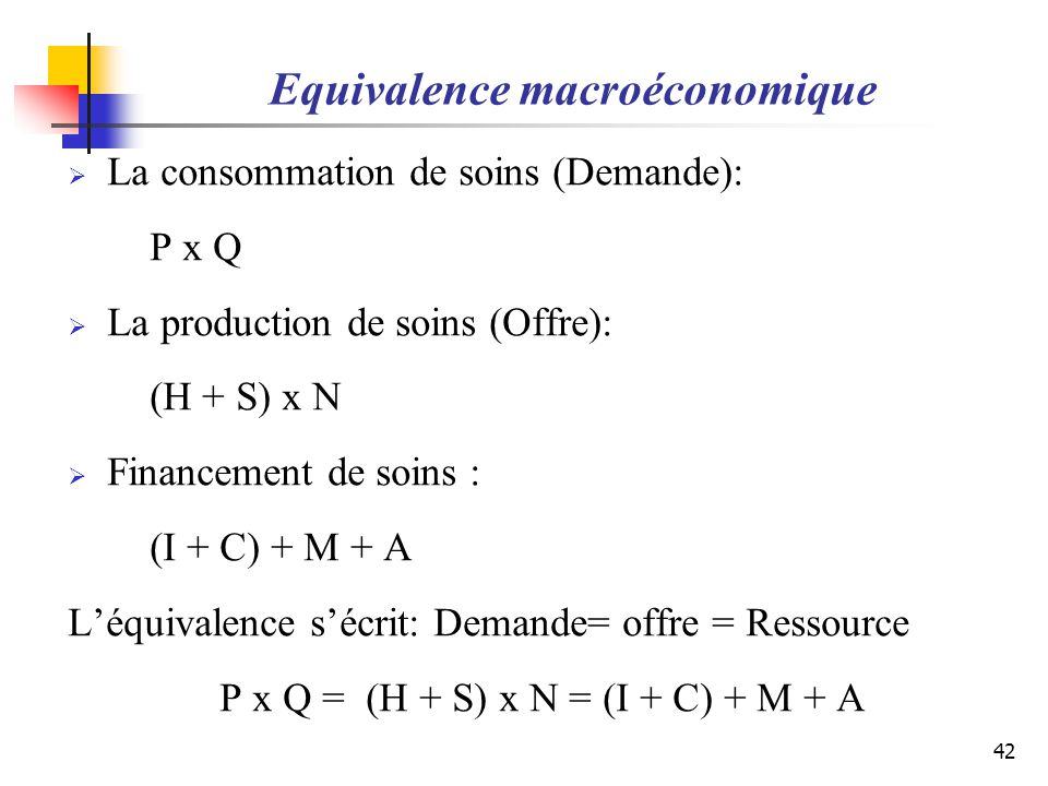 Equivalence macroéconomique