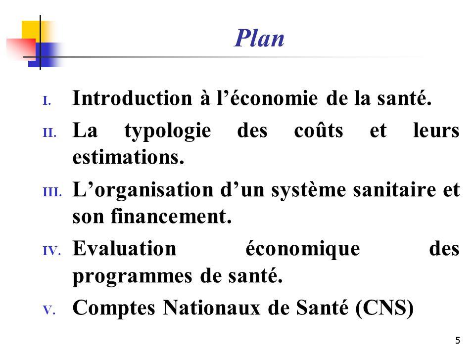 Plan Introduction à l'économie de la santé.