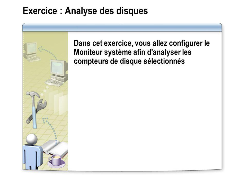 Exercice : Analyse des disques