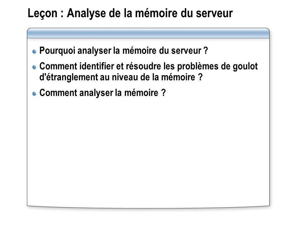 Leçon : Analyse de la mémoire du serveur