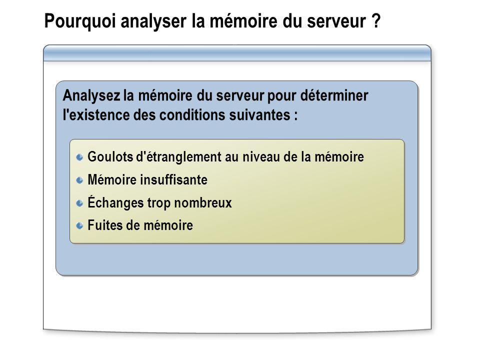 Pourquoi analyser la mémoire du serveur