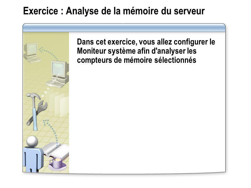 Exercice : Analyse de la mémoire du serveur