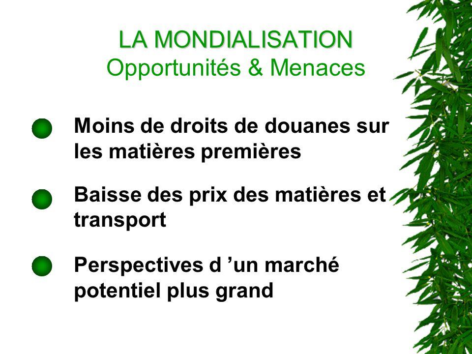 LA MONDIALISATION Opportunités & Menaces