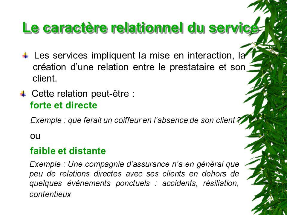 Le caractère relationnel du service