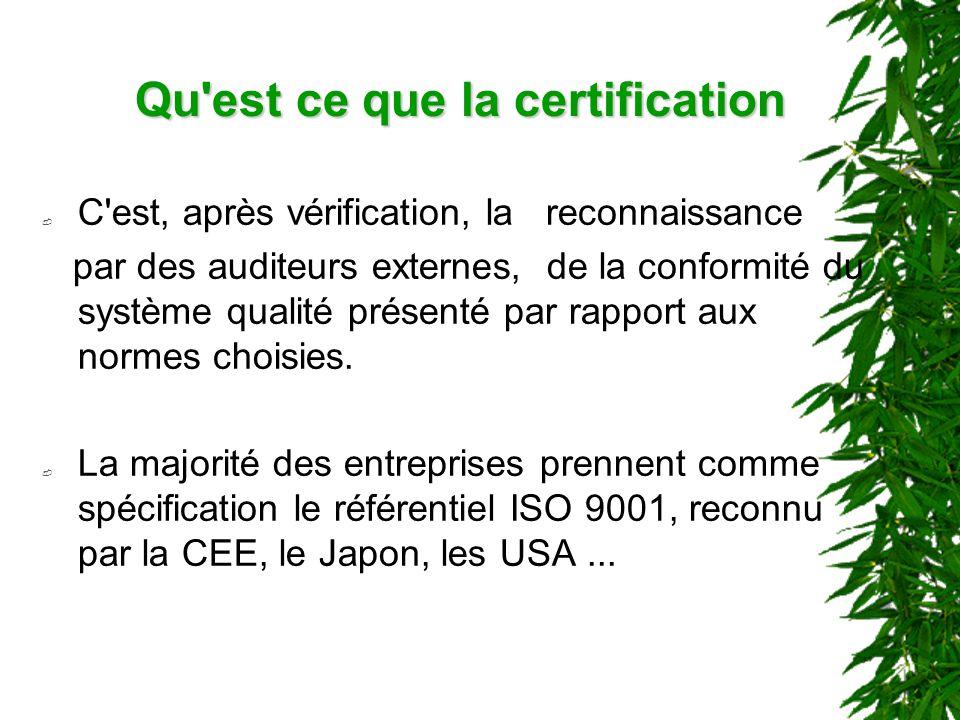 Qu est ce que la certification