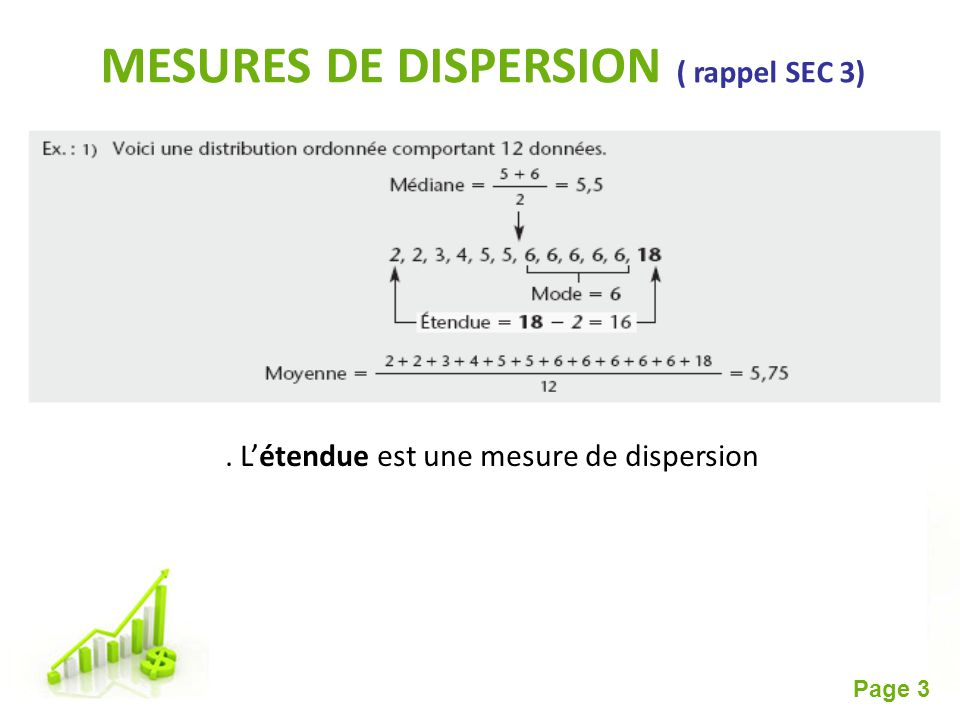 MESURES DE DISPERSION ( rappel SEC 3)