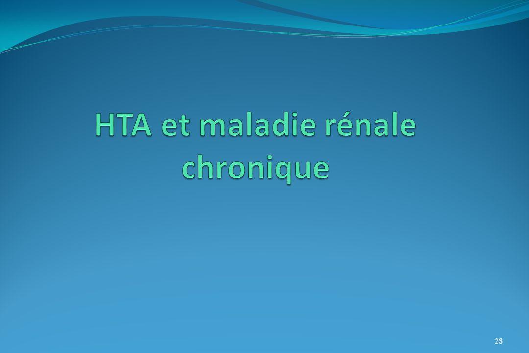 HTA et maladie rénale chronique