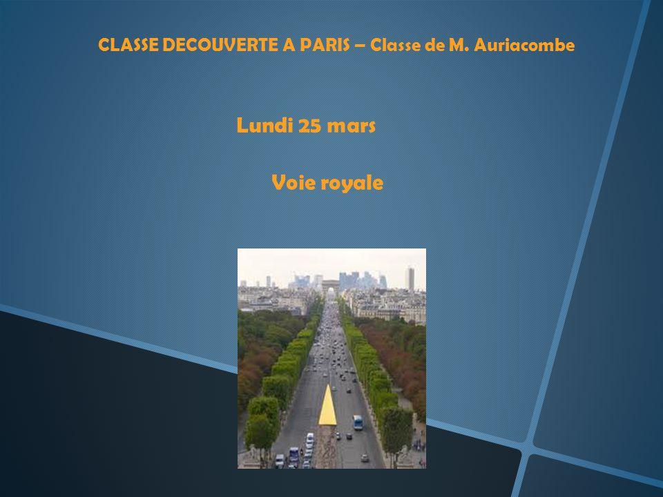 CLASSE DECOUVERTE A PARIS – Classe de M. Auriacombe