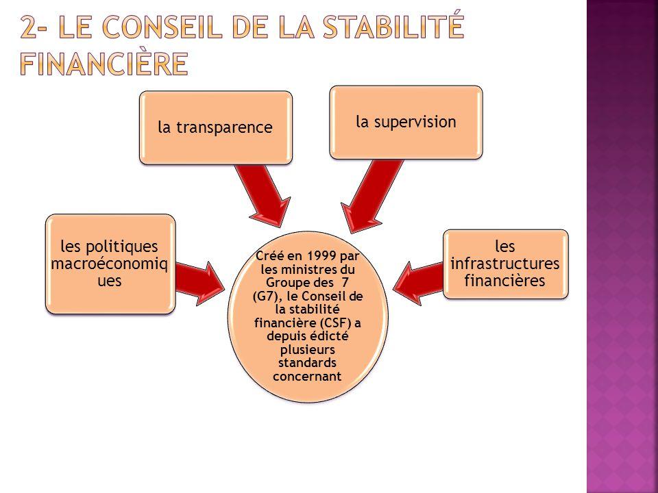 2- Le Conseil de la stabilité financière
