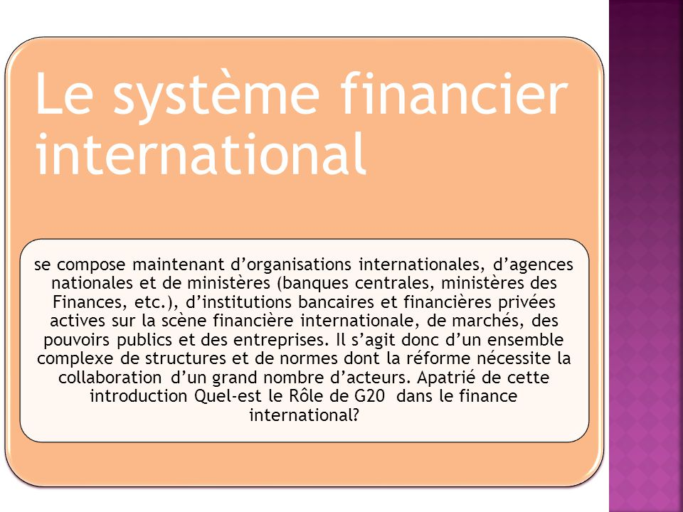 Le système financier international