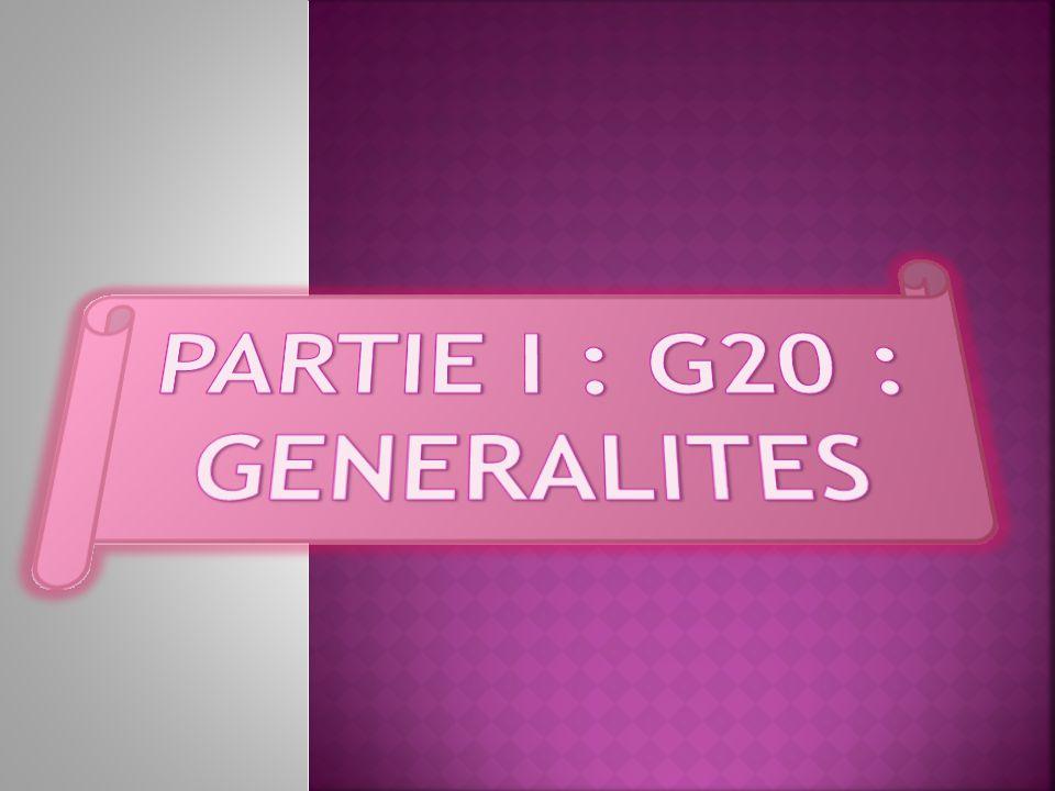 PARTIE I : G20 : GENERALITES