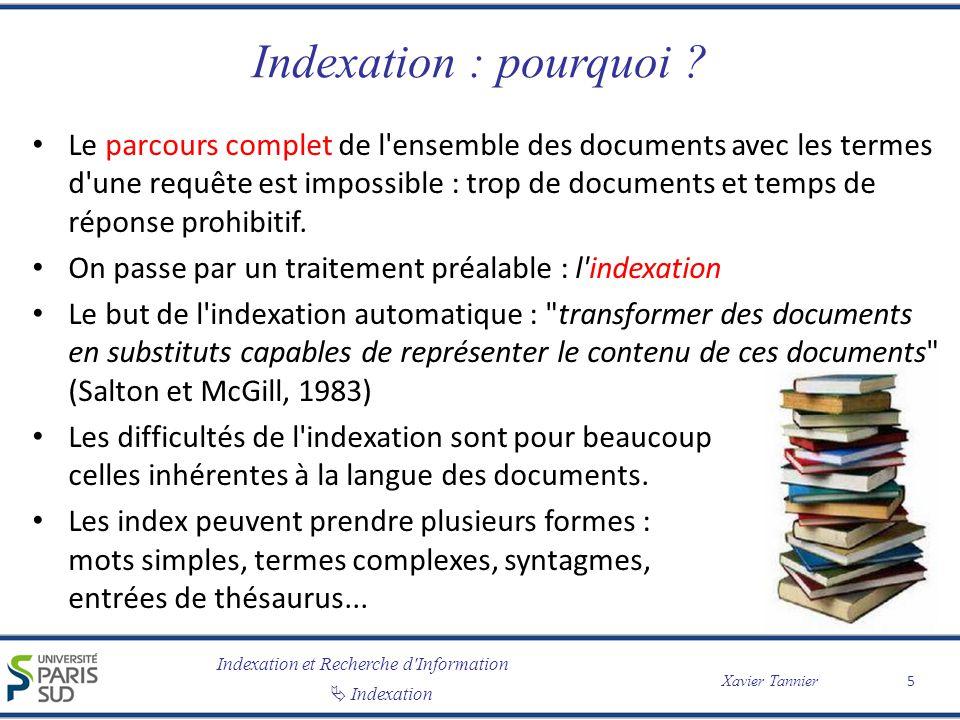 Indexation : pourquoi