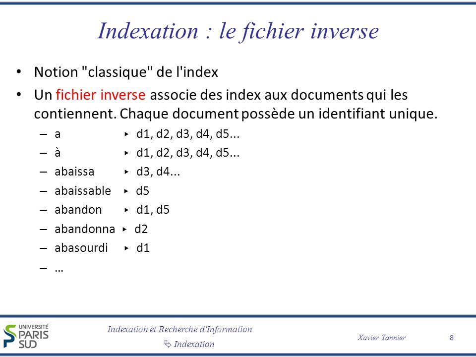 Indexation : le fichier inverse