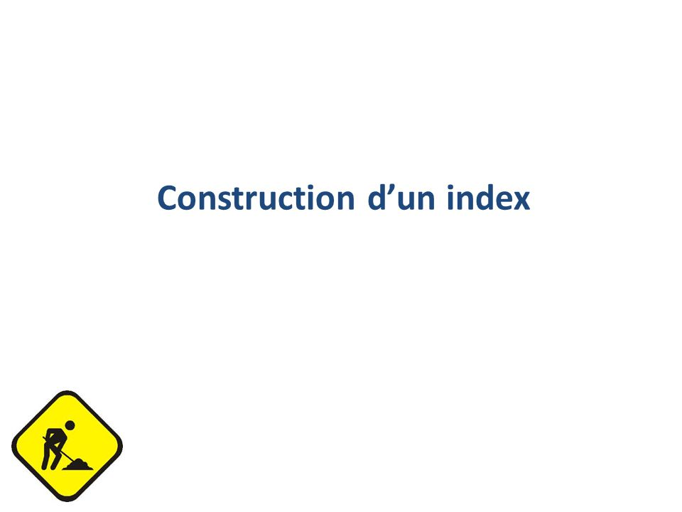 Construction d'un index