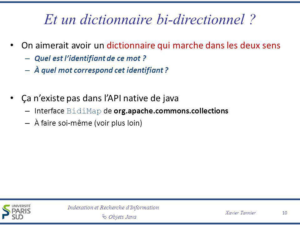 Et un dictionnaire bi-directionnel