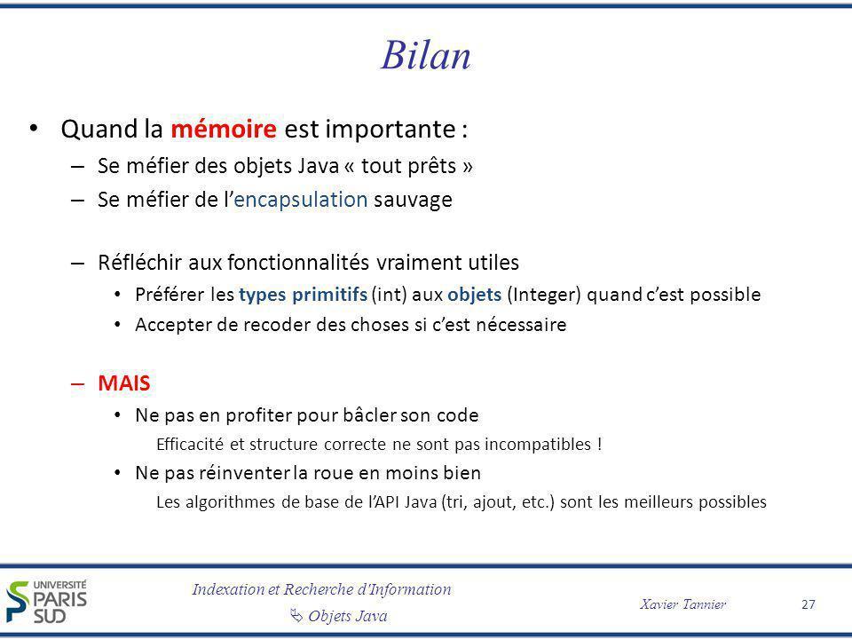Bilan Quand la mémoire est importante :