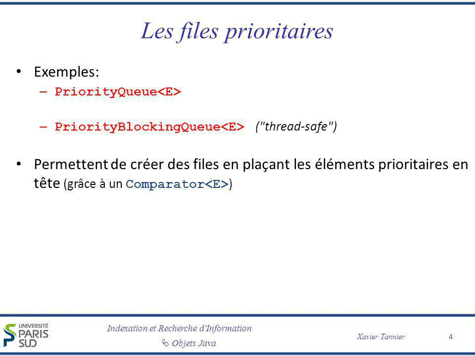 Les files prioritaires